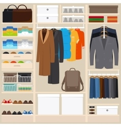Clothes wardrobe vector image