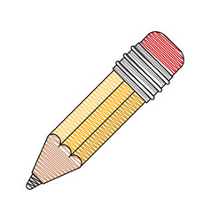 color crayon stripe image of pencil with eraser vector image