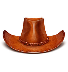 cowboys leather hat vector image