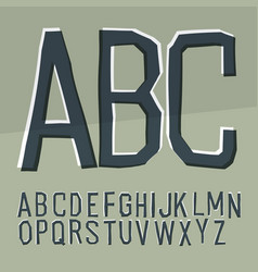 cut off alphabet cartoon style elementary hand vector image