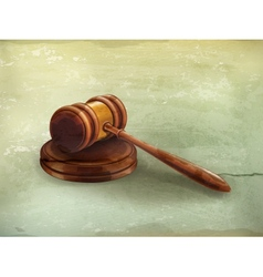 Gavel old-style vector
