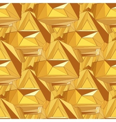 Gold seamless polygonal pattern vector image vector image