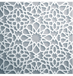 islamic ornament persian motiff white vector image