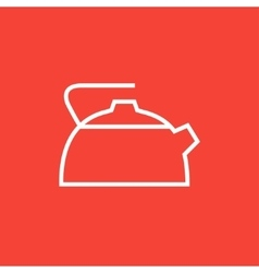 Kettle line icon vector
