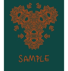 Oriental ornamental triangle mandala in red color vector image vector image