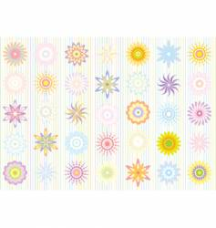 pastel color floral pattern vector image