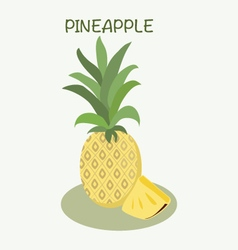 Pineapple icon in flat style Isolated object vector image