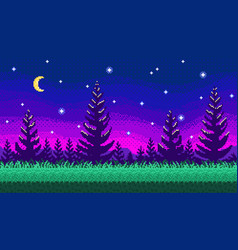 pixel art seamless background vector image vector image