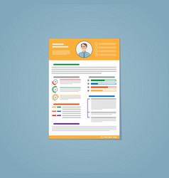 resume yellow vector image vector image