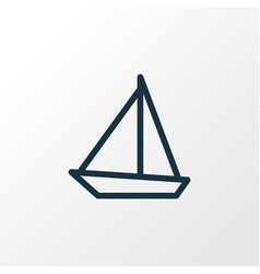 sailboat outline symbol premium quality isolated vector image