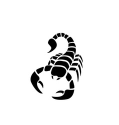 scorpion icon in simple tattoo style vector image