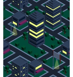 Seamless background night city Isometric vector image