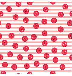 seamless pattern with colorful red buttons vector image vector image