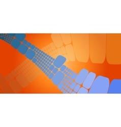 Square blue orange wave gradient geometrical vector