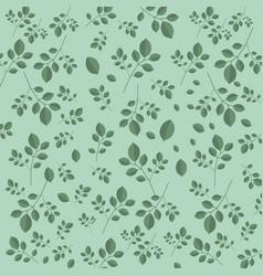 Teal leaves dark spring background vector
