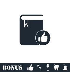 Vip favorite book icon flat vector