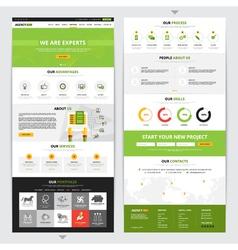 Web Page Vertical Design Set vector image