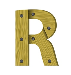 wood letter R vector image vector image