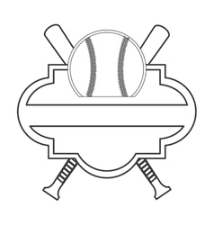 Baseball emblem icon vector