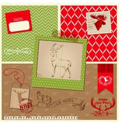 Christmas Reindeer Set vector image