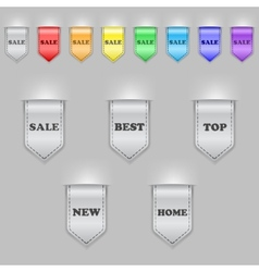 Bookmark ribbons vector