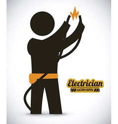 Electrician design vector