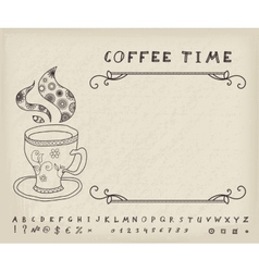 Coffee vintage background vector