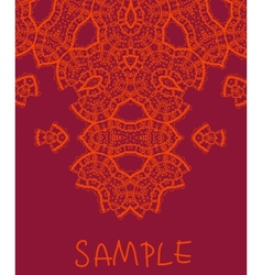 Wedding invitation stylized indian mehndi vector