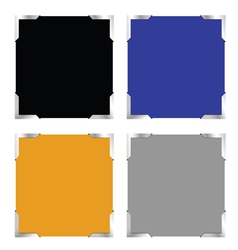 Photo frame set color vector