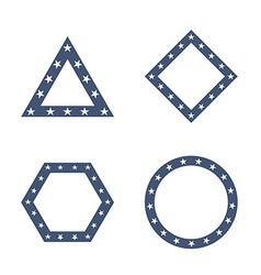 Geometric figures with star pattern vector