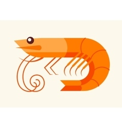 Shrimp - seafood icon vector
