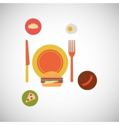 Food and restaurant design vector