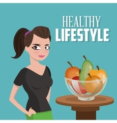 Icon of healthy lifestyle design vector