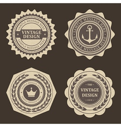Vintage labels set vector