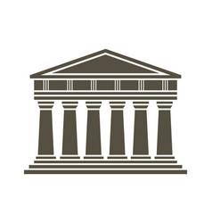 Architecture greek temple icon vector