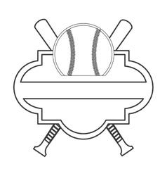 Baseball emblem icon vector