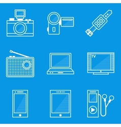 Blueprint icon set Device vector image vector image