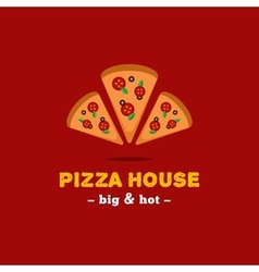 bright pizza restaurant logo Brand sign vector image vector image