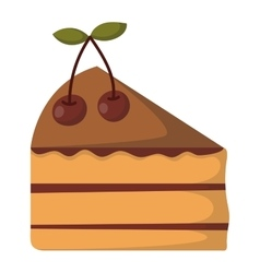 Cake isolated icon vector image vector image