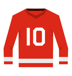 canadian hockey jersey icon isolated vector image