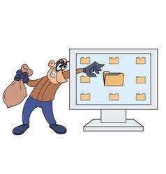 Computer thief vector
