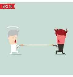 Confrontation between two business people vector