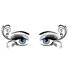 Eyes floral blue vector