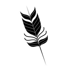 Feather decorative isolated icon vector