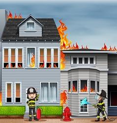 Fire scene vector image vector image