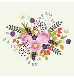 Flowers floral composition on a white background vector image vector image
