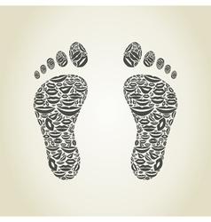 Foot a lip vector