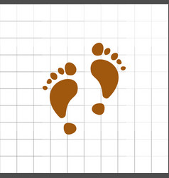 Footprint icon for web vector