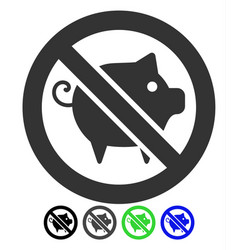 Forbidden pig flat icon vector