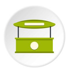 Green tent shop icon circle vector